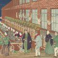 国輝二代「上州富岡製糸場之図」