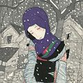 竹久夢二「雪の夜の伝説」