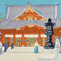 小泉癸巳男「昭和大東京百図絵 神田神社(明神)」