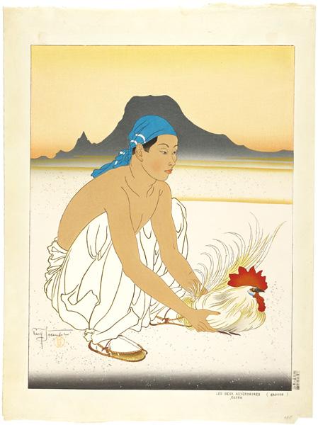 ポール・ジャクレー「闘鶏(左図)」/