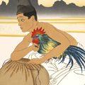 ポール・ジャクレー「闘鶏(右図)」