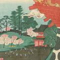 広重二代「東都三十六景 上野 満花の詠」