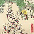 一景「東京名所四十八景 上野黒門前花見連」