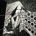 斎藤カオル「天守物語(征矢を捉える夫人)」