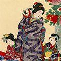 周延「女礼式裁縫の図」