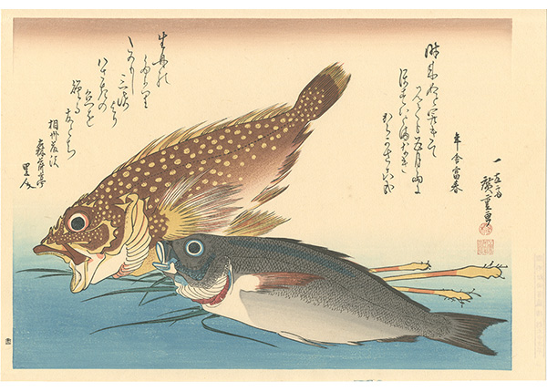 広重初代「魚づくし かさご・いさきに薑【復刻版】」/