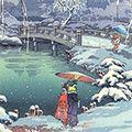 土屋光逸「春之雪 京都円山」