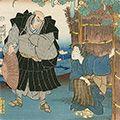 国芳「東海道五十三対 藤枝」