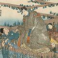 国芳「東海道五十三対 池鯉鮒」