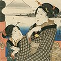 国芳「東海道五十三対 日本橋」
