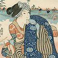 国芳「東海道五十三対 水口」