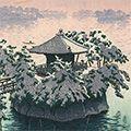 笠松紫浪「雪の松島」