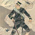 耕濤「日本魂 工兵小野口徳重 爆烈弾を以て金州城門を破る図」