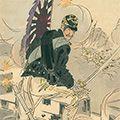 耕濤「日本魂 旗手大森狷之助 船橋里の乱戦で連隊旗を護図」