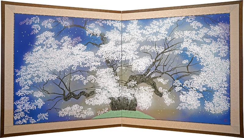 中島千波「醍醐桜」/
