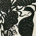 小島悳次郎「鳥と薄(仮題)」