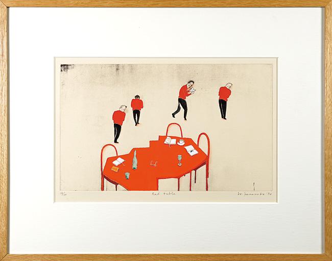 山本容子「Red table」/
