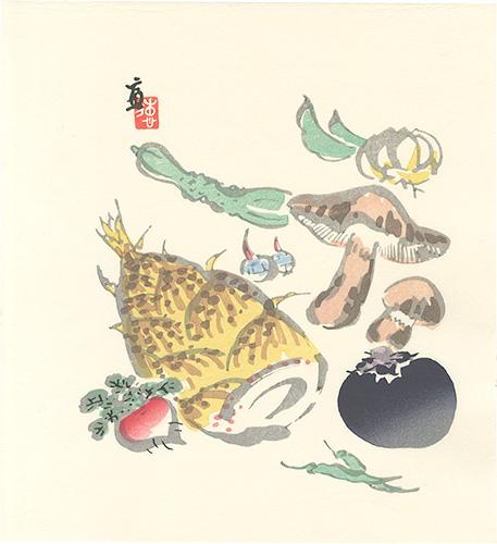 徳力富吉郎「野菜(仮題)」/