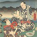 豊国三代「四条河原夕涼の図」