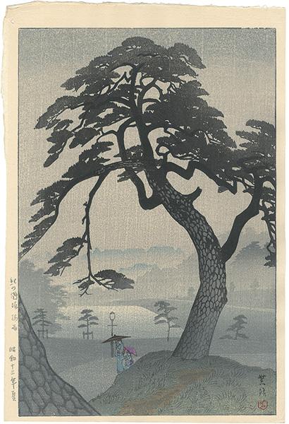 笠松紫浪「紀の国坂 梅雨」/