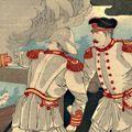 作者不詳「我艦隊清艦を捕獲する図」