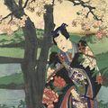 国周「今様松竹梅の内 園の子竹狩」