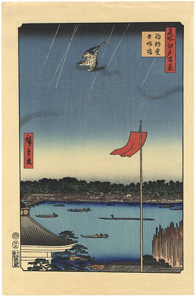広重初代「名所江戸百景 駒形堂吾嬬橋【復刻版】」/