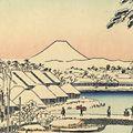 広重初代「富士三十六景 東都数奇屋河岸【復刻版】」