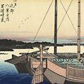 広重初代「江戸近郊八景之内 芝浦晴嵐【復刻版】」