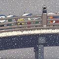 徳力富吉郎「三條大橋」